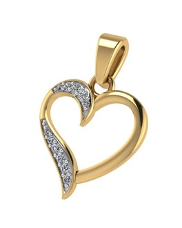 Buy yellow white rose traditional gold pendants with chain for diamond studded pendent without chain in heart design for women aloadofball Gallery