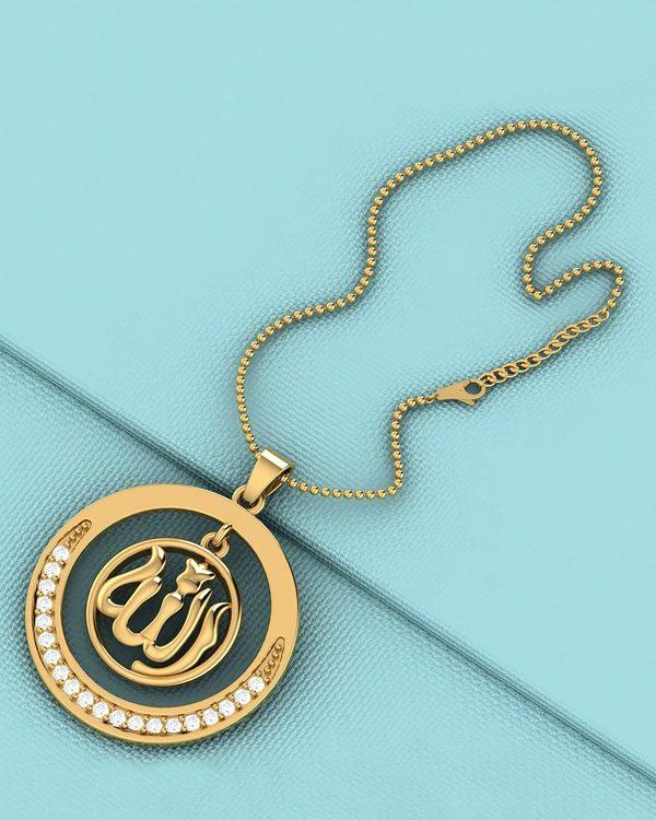 Buy designer mens pendants islamic allah pendant with chain dare islamic allah pendant with chain dare by voylla aloadofball Images