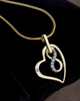 Buy cz pendants silver gold plated pearl solitaire pendant for infinite in heart gold plated pendant chain aloadofball Gallery