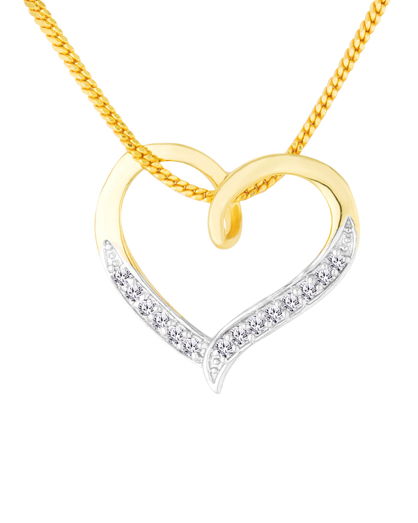 Buy designer pendants lovely cz studded heart pendant with chain lovely cz studded heart pendant with chain mozeypictures Gallery