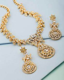buy artificial necklace online silver gold plated bridal necklace